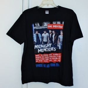 One Direction Concert Band Tee Tshirt XL